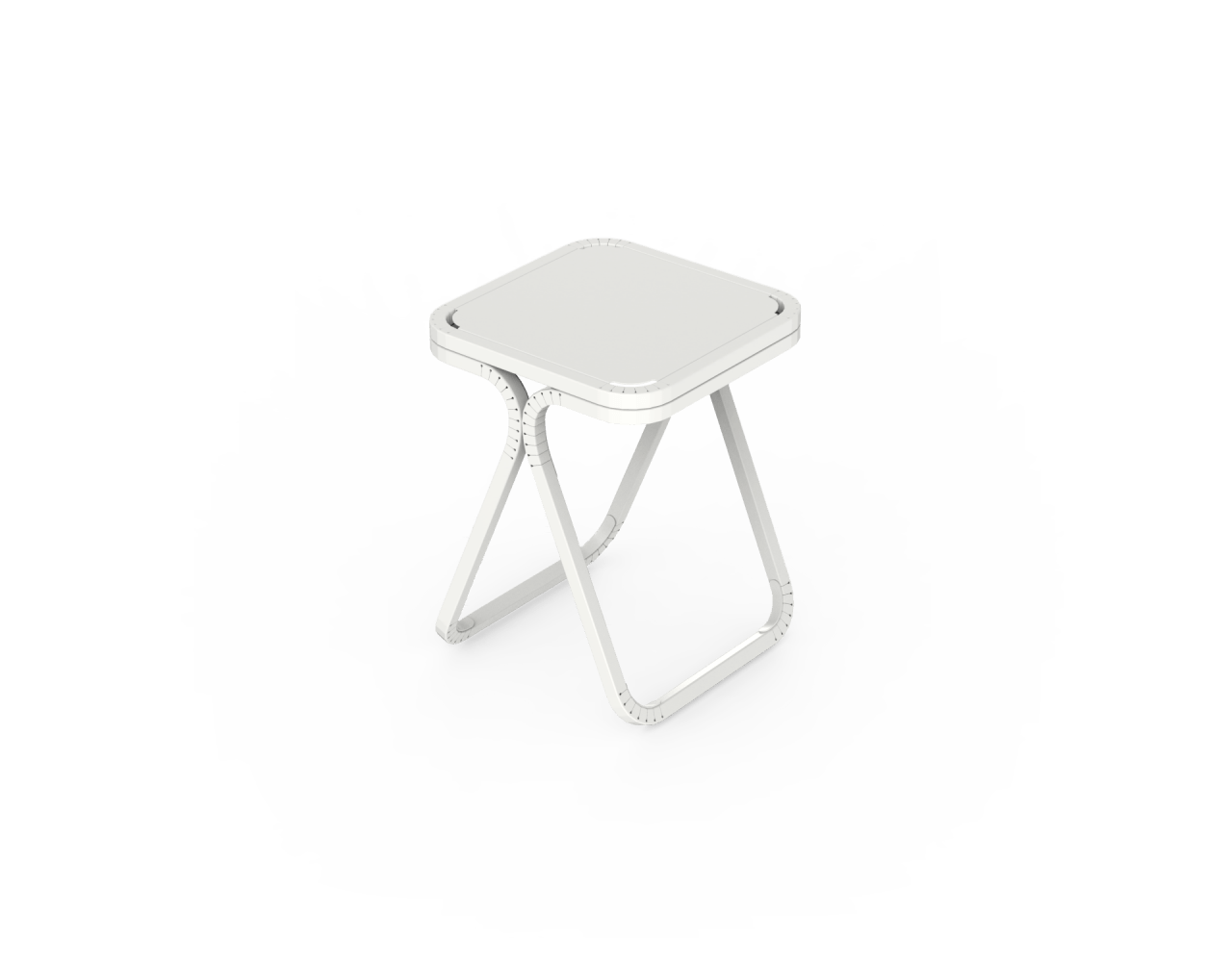 A render of a modern chair from CutWorks