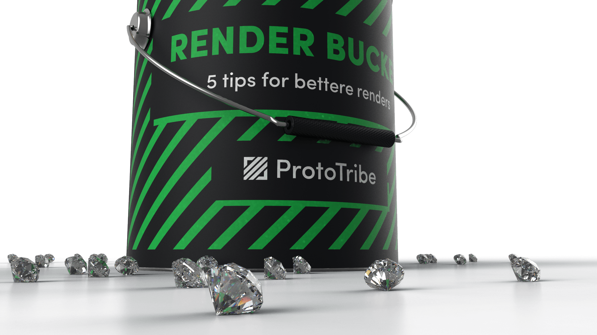 Rendered diamonds for marketing purposes